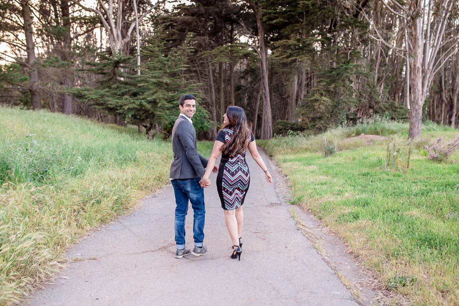 surprise marriage proposal at the Presidio