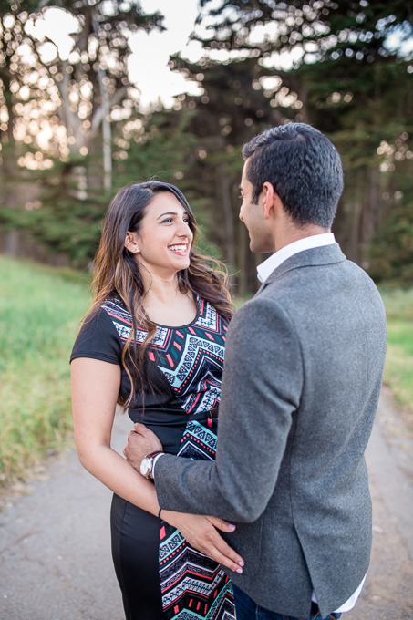 engagement photos in the Presidio