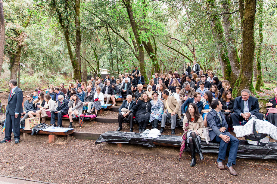 wedding family and guests at Uvas Canyon County Park