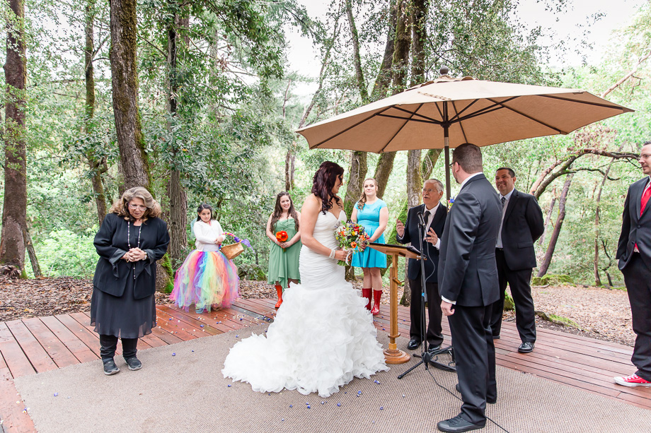 wedding ceremony at a public park