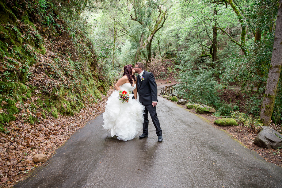 wedding photos at Uvas Canyon Park