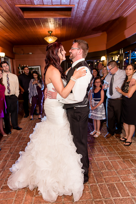 bride and groom first dance at Mama Mias Morgan Hill