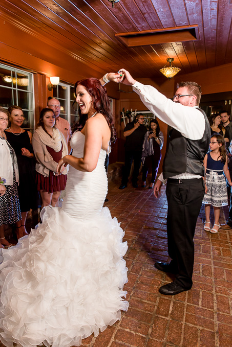 first dance photo bride twirling