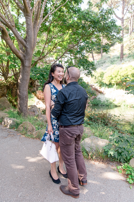 couple portrait at Stow Lake