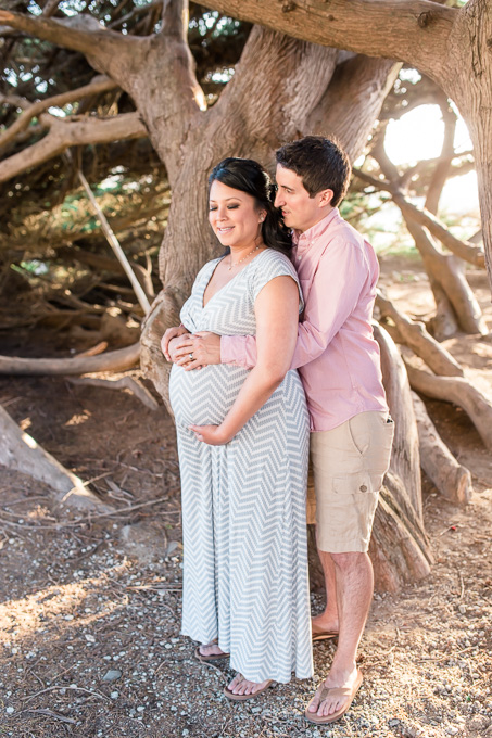 San Francisco maternity session - sunset photo under a magical tree