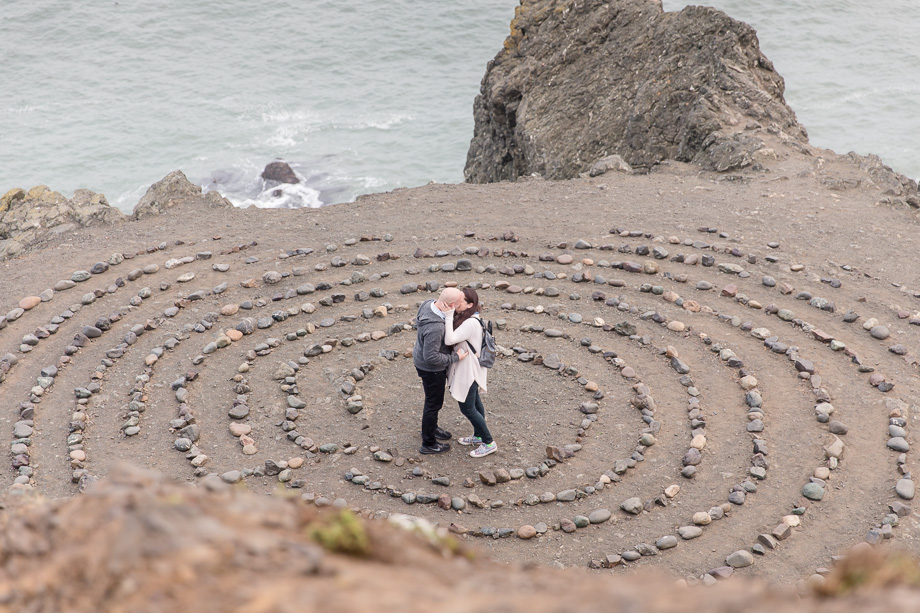 lands end labyrinth - a magical location in san francisco for surprise proposals