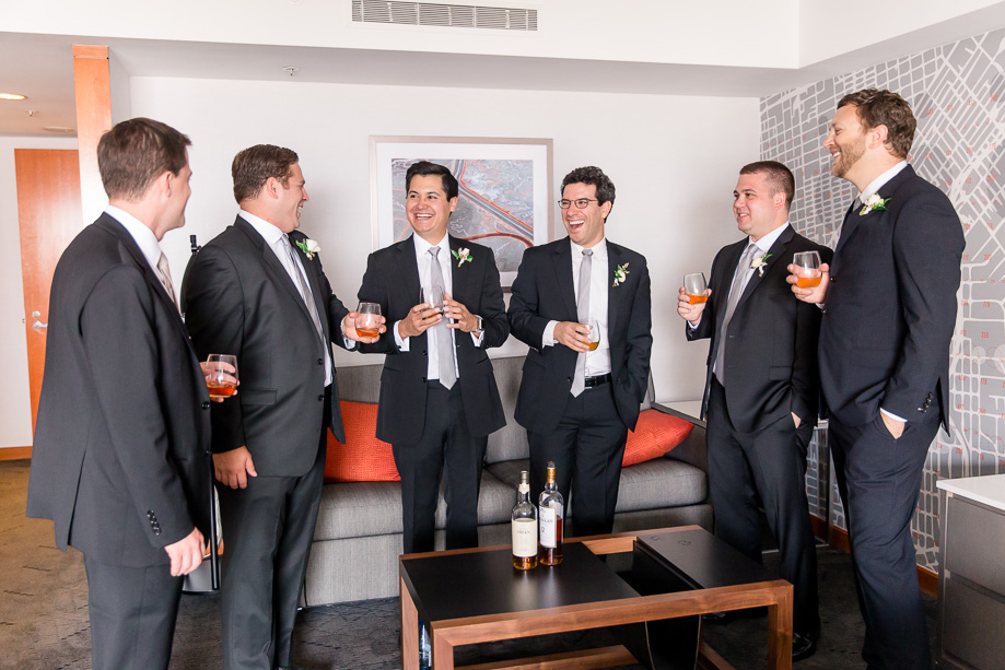 groom and groomsmen chilling before the ceremony