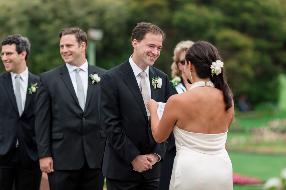 brides sweet and funny vows made the groom laugh