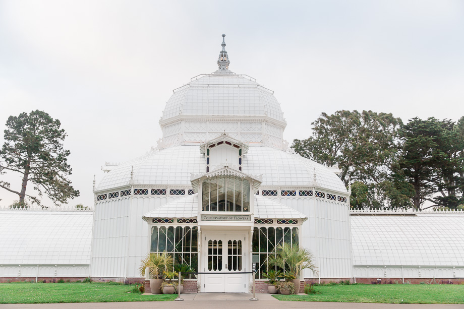 outside of conservatory of flowers