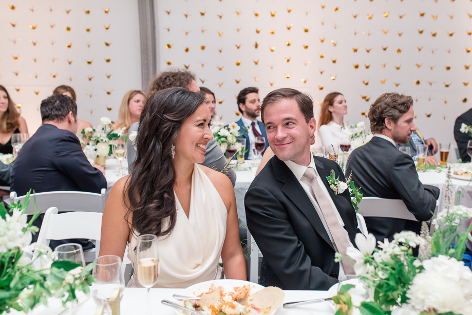 a candid moment during the best man speech