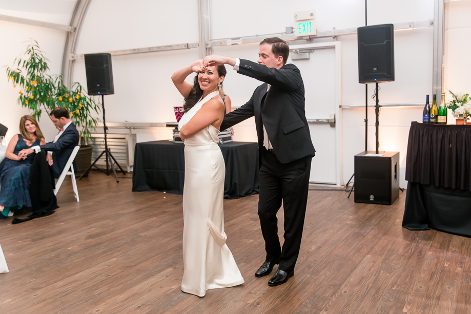 newlyweds have some great moves on the dance floor