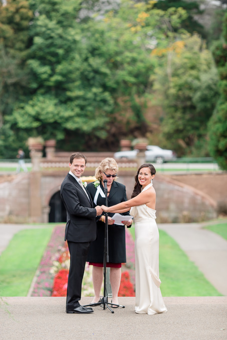 san francisco garden wedding ceremony