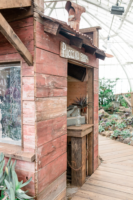 little prop house inside the conservatory