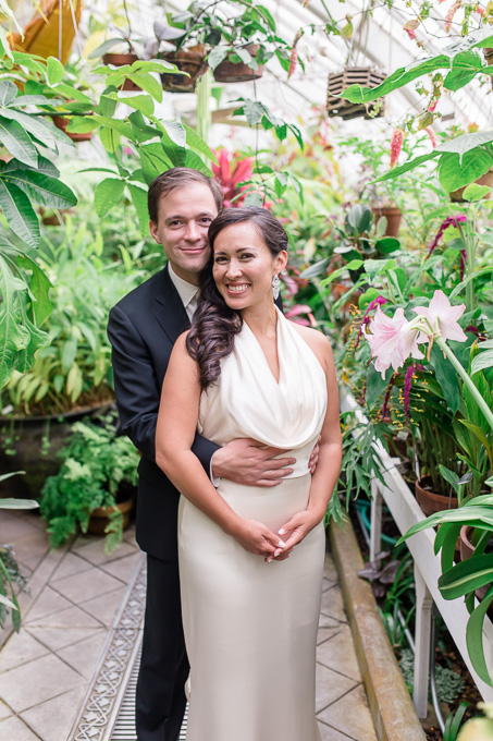 conservatory of flowers wedding portrait