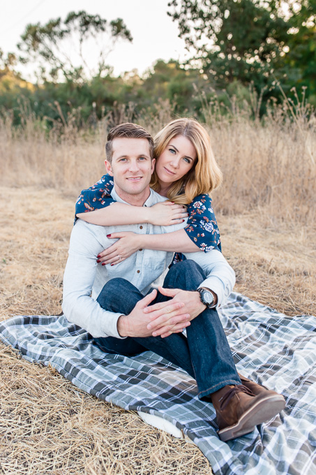 beautiful couple on a picnic blanket