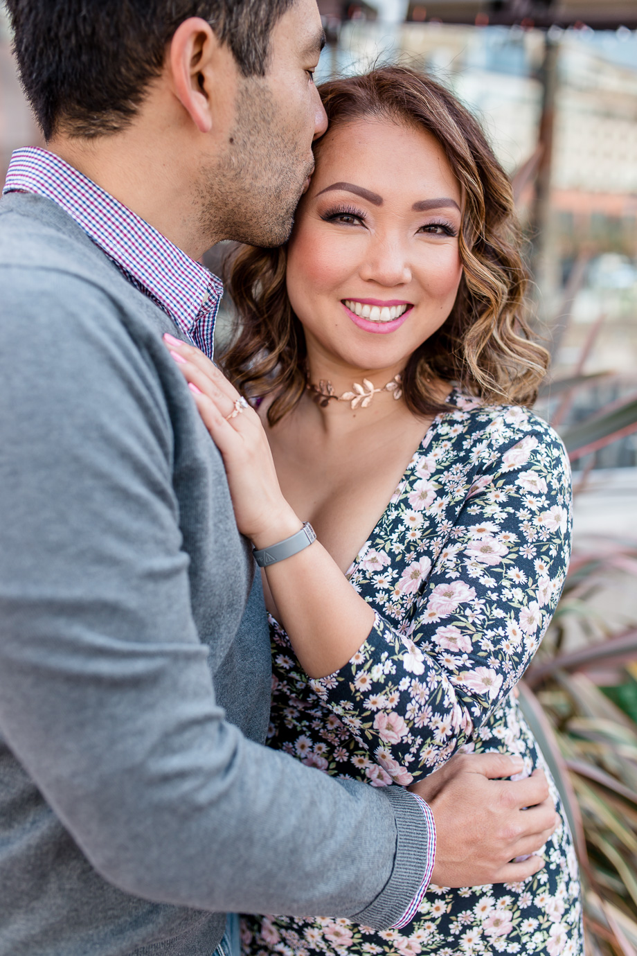 San Francisco downtown engagement photo