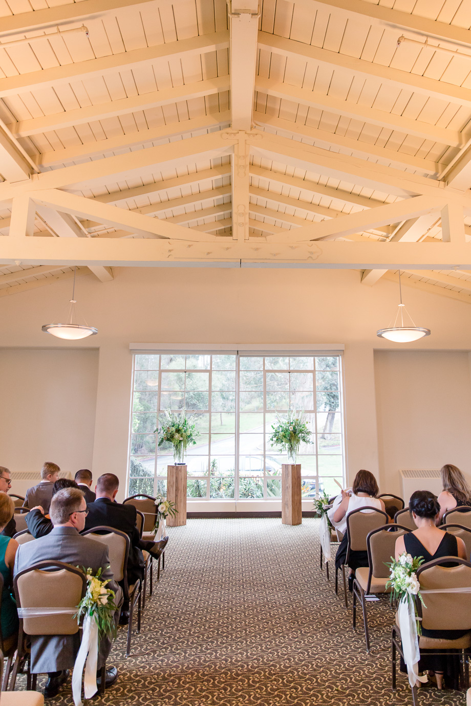 wedding ceremony at the Golden Gate Club at Presidio