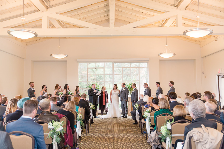 Presidio indoor wedding ceremony
