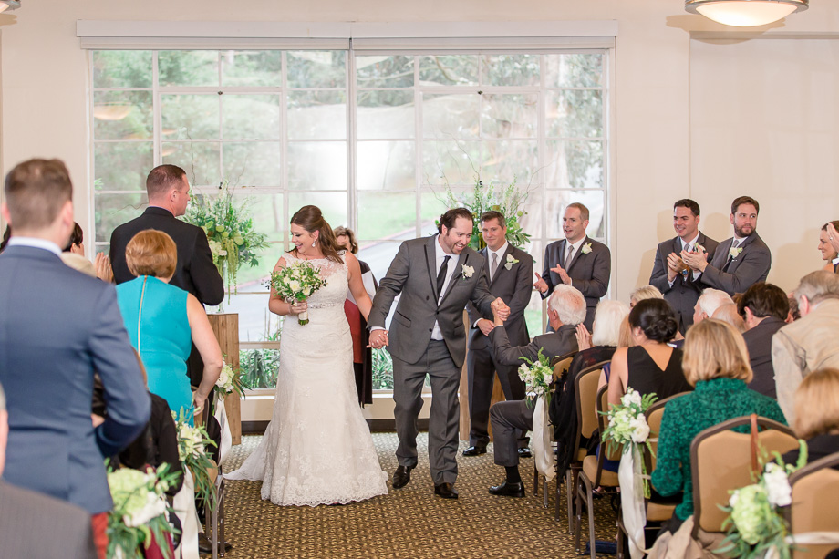 a happy wedding recessional