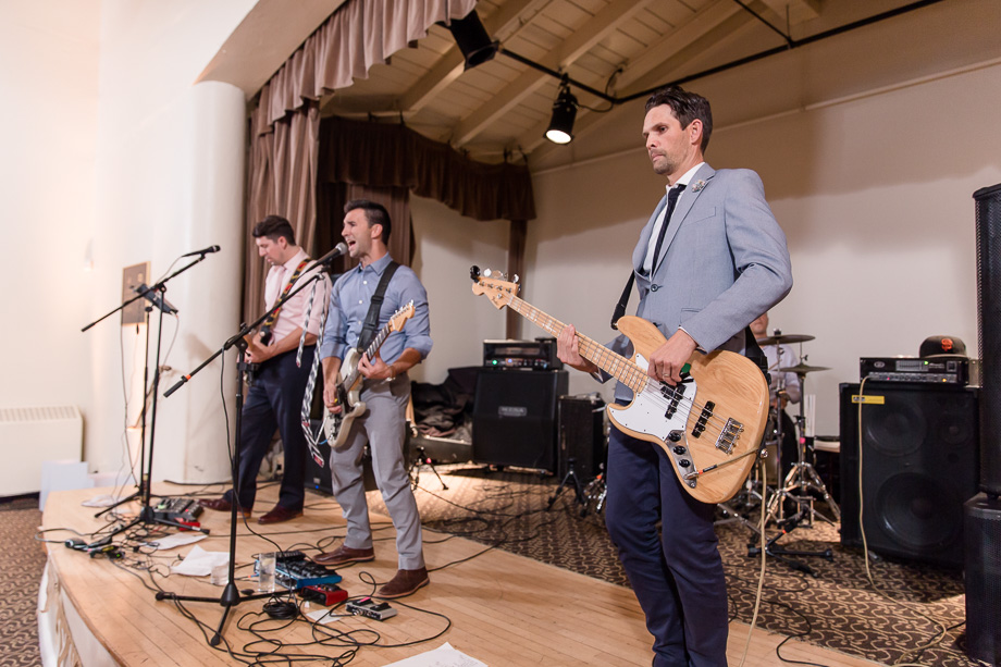 live band performance at a wedding