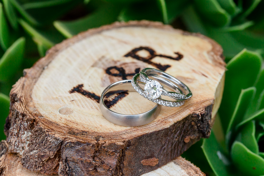 rustic wooden ring box handmade by brides dad