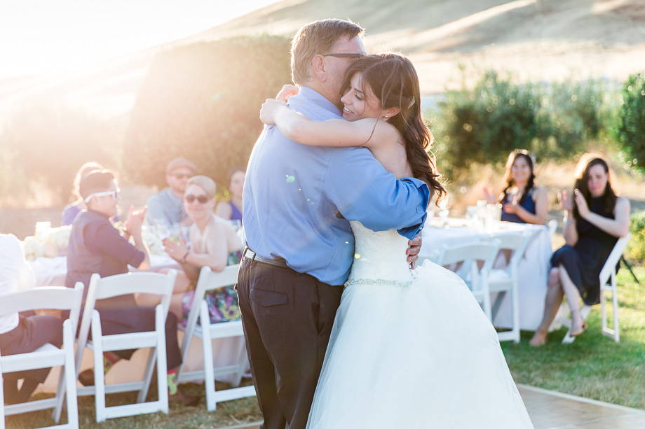 a beautiful father daughter dancing moment at purple orchid resort and spa