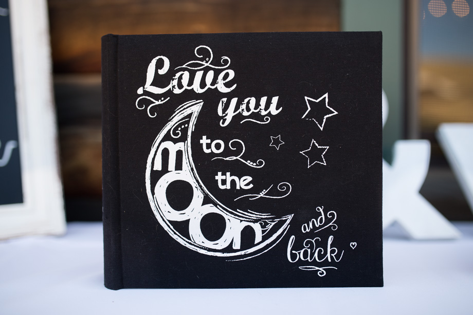 guest sign in book - love you to the moon and back