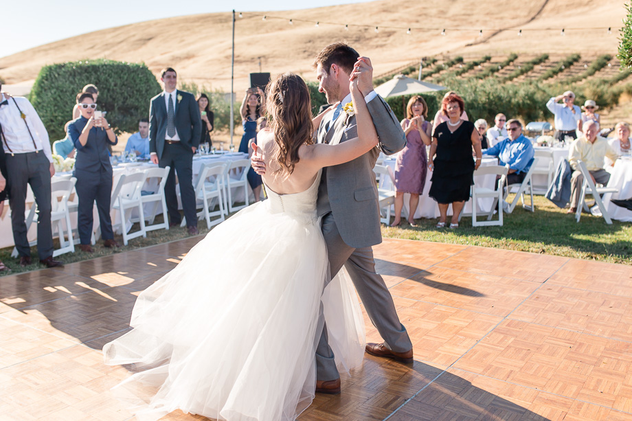romantic outdoor first dance