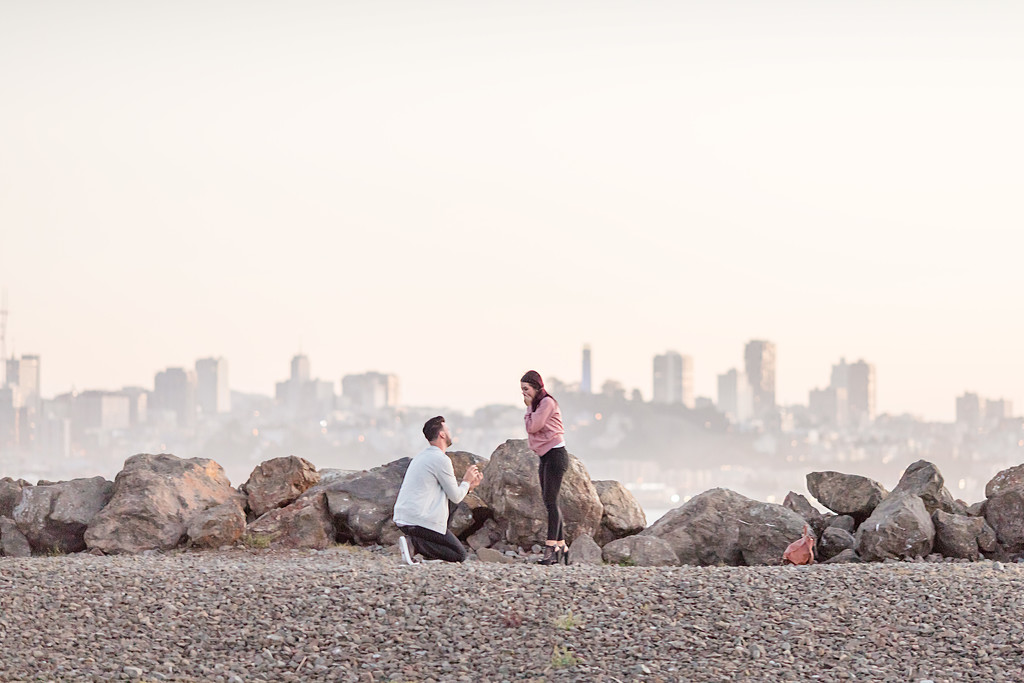 Treasure Island waterfront surprise proposal
