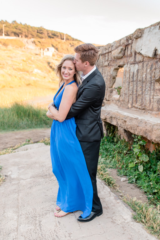 engagement photo at Sutro Baths ruins