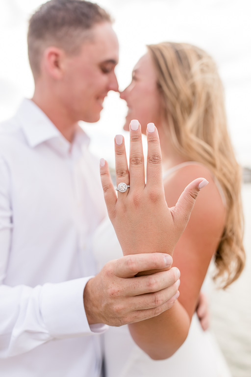 engagement photo showing off the new sparkly diamond ring