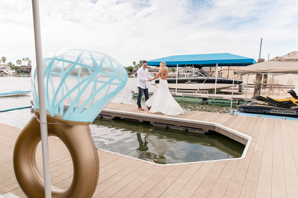 funny giant rubber ring prop used for surprise proposal