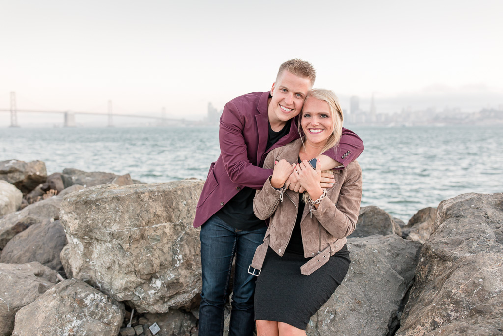 treasure island engagement photo