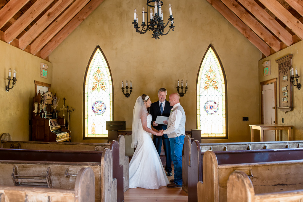 an intimate elopement in a little chapel in half moon bay