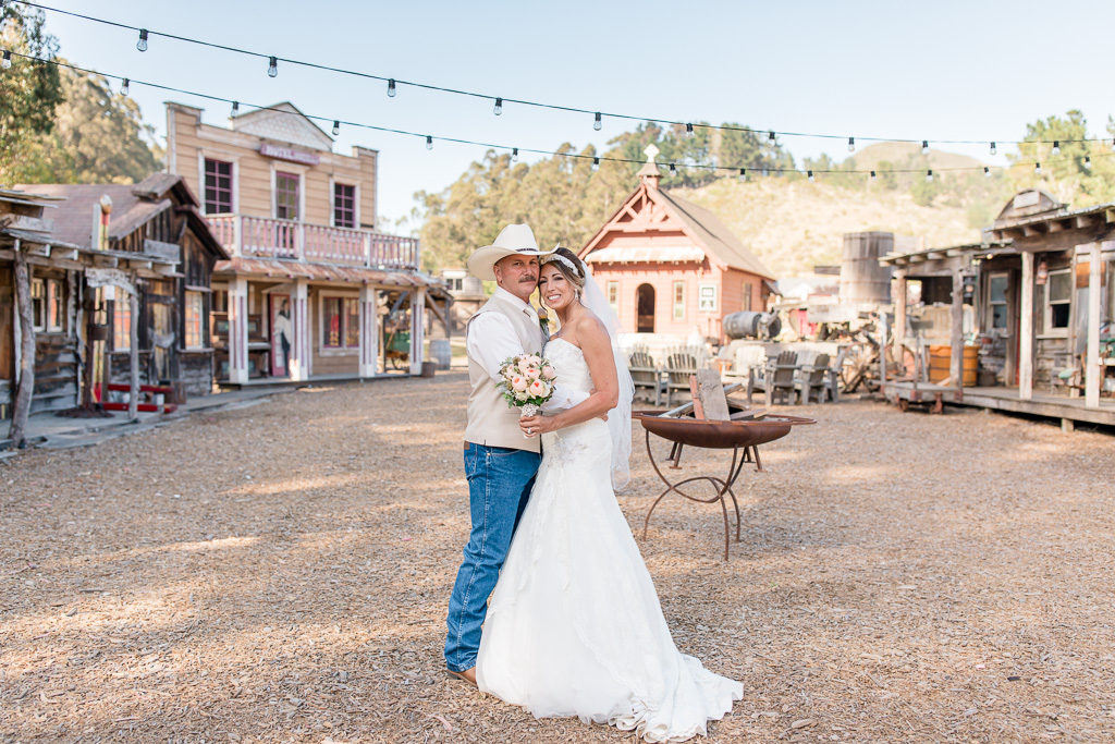 Long Branch Saloon and Farms couple wedding portrait