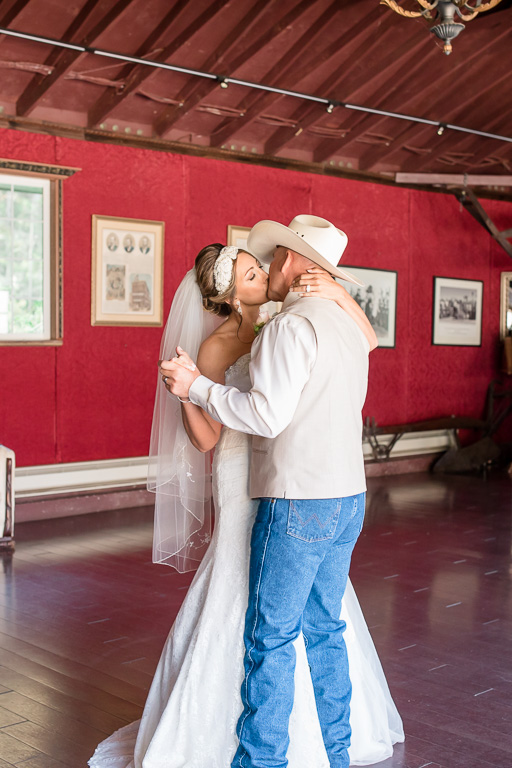 an emotional first dance at the long branch saloon and farm