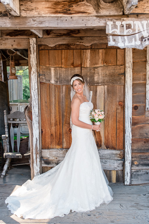 bridal portrait at the long branch saloon and farms