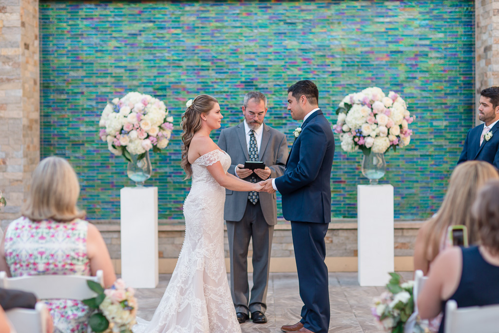sweet and intimate vow exchange at the Toll House Hotel