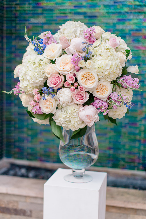 beautiful ceremony floral arrangement