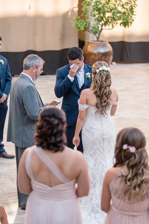groom shed a few tears during the ceremony