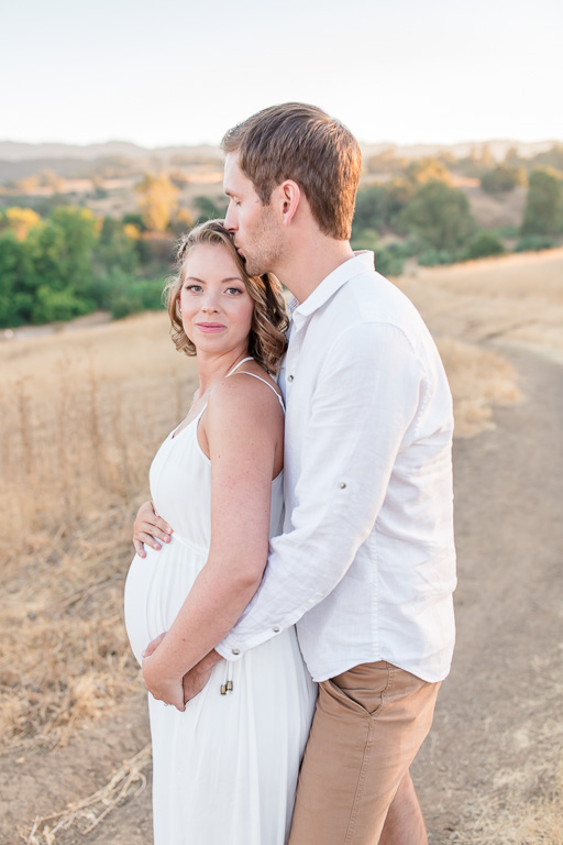 sweet portrait of the soon to be parents