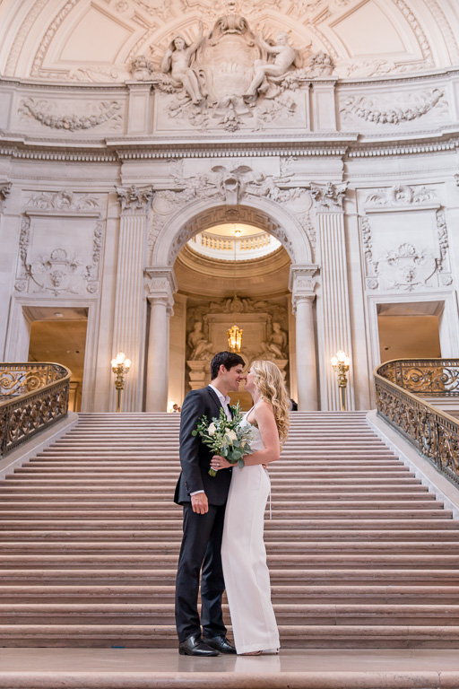 san francisco city hall grand staircase couple portrait