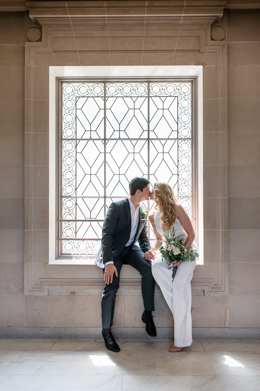 stylish couple got married at san francisco city hall
