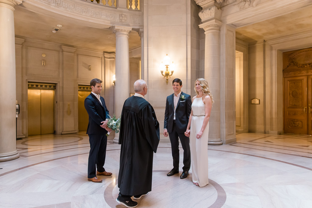 a sweet and private civil wedding ceremony at san francisco city hall
