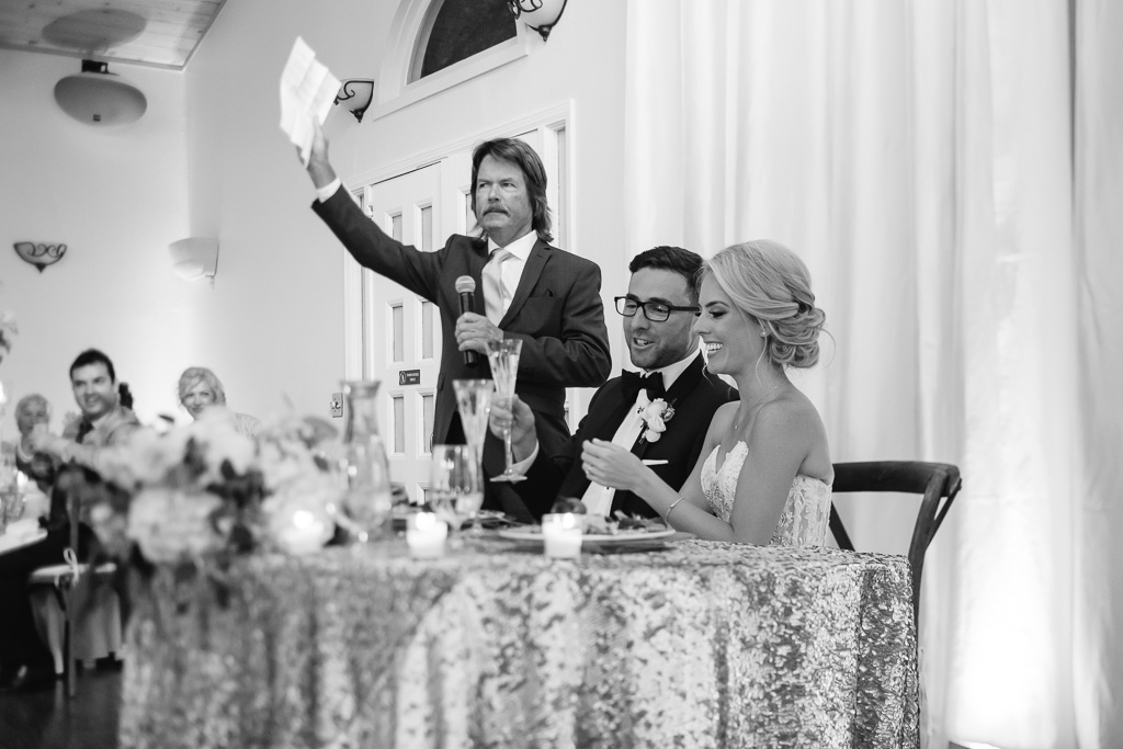 a toast from bride's father