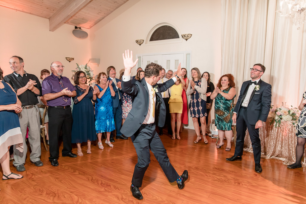 groomsman dancing on the dance floor