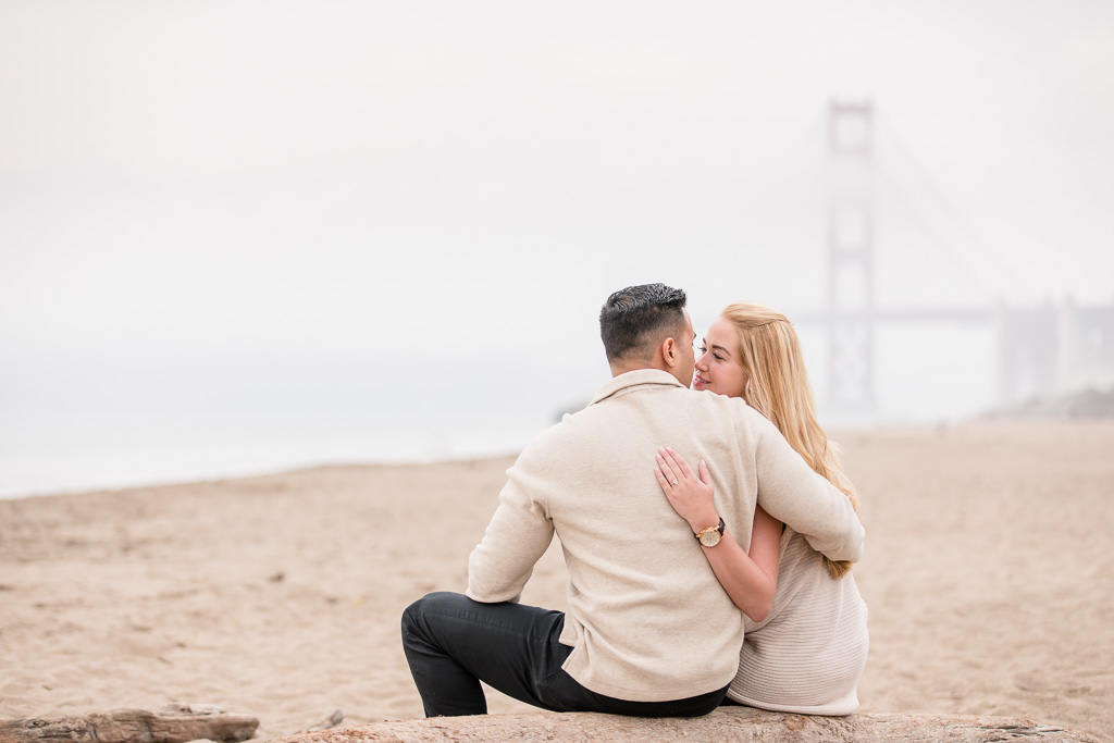 they got engaged in front of the golden gate bridge