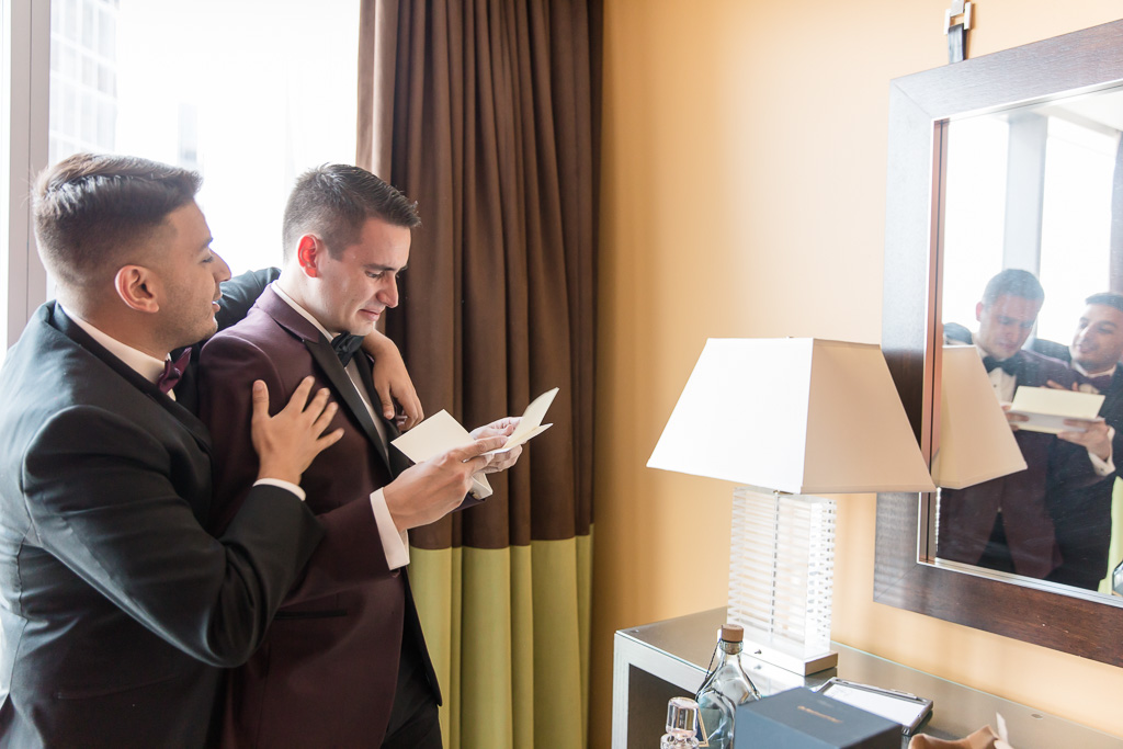 groom cried when reading a letter from the bride
