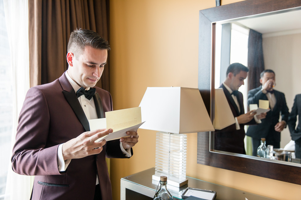 letter exchange before the wedding