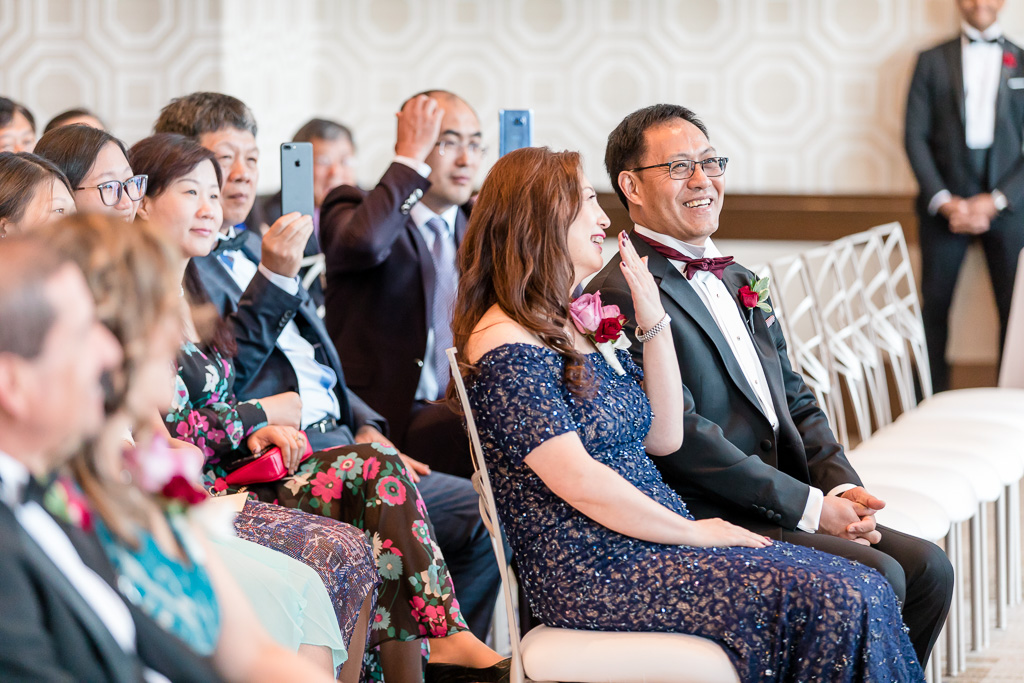 precious reaction from parents of the bride